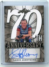 2018 LEAF 70TH ANNIVERSARY SILVER LANCE ARMSTRONG AUTO!!! 1/1!!! (CYCLING)