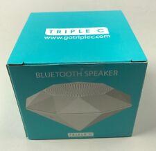 Triple C Bluetooth Speaker White Diamond play NIB rechargeable