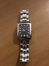 Rare Vintage Guess Stainlesss Steel Watch U10516G1 Black Dial Square Rectangle