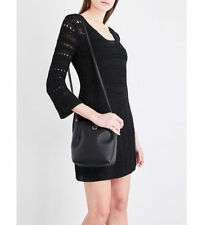 $340 KAREN MILLEN Dress Medium Black Crochet Knit Evening Bodycon Bandage M