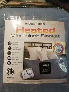 Biddeford Heated Microplush TWIN Blanket