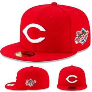 New Era Cincinnati Reds Fitted Hat MLB 1990 World series Patch Grey Under Brim