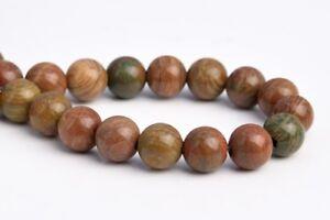 "6MM Natural Petrified Wood Jasper Grade AAA Round Gemstone Loose Beads 7.5"""