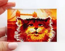 London Souvenir Ginger Cat & Tower Bridge Fridge or Office Magnet