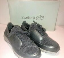 Nurture Leather Lace Up Sneakers Midazz Pewter US 7 NIB