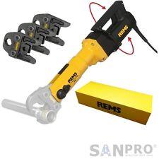REMS Power Press SE Rohrpresse + 3 Presszangen / Pressbacken f. Sanitär Fittings