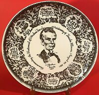 ABRAHAM LINCOLN PLATE 1953 CENTENNIAL OF CHRISTENING OF LINCOLN IL COMMEMORATIVE