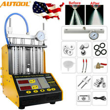 AUTOOL CT150 4Cylinder Ultrasonic Fuel Injector Tester Cleaner For Car USA STOCK