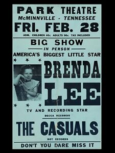 brenda lee tennessee 16x12 Repro Concert Poster