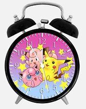 """Pokemon Pikachu Alarm Desk Clock 3.75"""" Home or Office Decor Z136 Nice For Gift"""