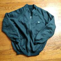 VTG 80s/90s Helly Hansen Reverse Pile Fleece Jacket LARGE Green Full ZIp Sweater
