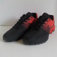 Nike SHOX NZ DELIVER 809 Running Shoes BLACK   RED Men Size 11 6a423433f
