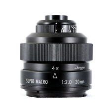 HOT Mitakon Zhongyi 20mm f2.0 4.5X Super Macro Lens for Canon EOS EF mount 5D IV