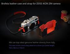 Brofeta ZEISS IKON ZM camera leather case half case bag and strap Handmade