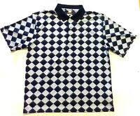 XL Size Extra Large Greg Norman Shark  Play Dry Men's Polo Golf Shirt Checkered