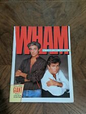 WHAM IN THEIR OWN WORDS 1984 BOOK WITH POSTER NICE CONDITION GEORGE MICHAEL