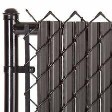 Chain Link Black SoliTube™ Max-Privacy Slat For 6-ft Fence Bottom Lock