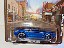 HOT WHEELS BOULEVARD BLUE FORD MUSTANG GT CONCEPT REAL RIDERS CJ15
