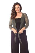 Viscose Machine Washable Medium Knit Plus Size Jumpers & Cardigans for Women