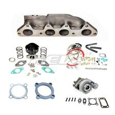 REV9 94-02 HONDA ACCORD F23 2.3 .48 T3 TURBO CHARGER CAST MANIFOLD SET UP KIT