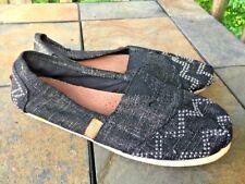 MADDEN GIRL Chevron SILVER STUD Ballet Flats Loafers Womens Shoes Sz 7.5 👠b2