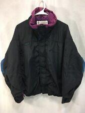 Vintage Columbia Bugaboo Jacket Ski Shell Nylon Black Purple Blue Mens Medium