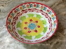 Tommy Bahama Large Melamine Serving Bowl. Colorful Abstract Design. New.