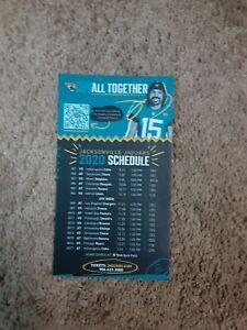 2020 Jacksonville Jaguars (NFL) #15 Gardner Minshew team magnet schedule