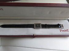 PIAGET 18K WHITE GOLD  PROTOCOLE 4154 WATCH ORIG PIAGET STRAP, BUCLE BOX RUNS