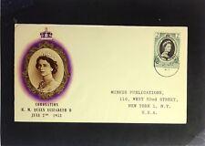 Dominica - 1953 Queen Elizabeth II Coronation FDC / Minkus Cache - Z2385