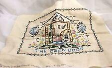"""Dorothy Bradford Colonial Sampler Number 854/1The Open Door 13"""" x 12"""""""