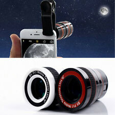 1x Black 8Zoom Telescope Magnifier Camera Lens Holser For iPhone Android Samsung