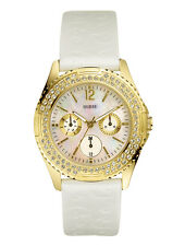 New with Tag Guess $115 Swarovski Rock Candy 3-Chronograph Womens Watch I11528L2