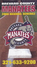 2008 BREVARD COUNTY MANATEES MINOR LEAGUE BASEBALL POCKET SCHEDULE