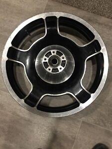 """harley 18"""" touring front wheel 5 streetglide roadking roadglide electraglide flh"""