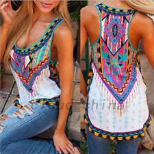 Sleeveless Women Multicolor Casual Vest Tank Top T-shirt Summer Beach Slim Fit