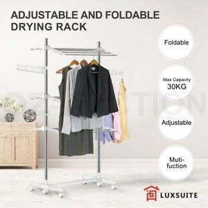Foldable 6 Tiers Clothes Airer Drying Rack Indoor Outdoor Laundry Garment Hanger
