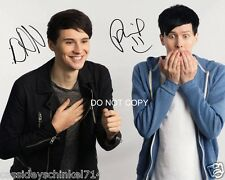 "Dan and Phil Reprint Signed 11x14"" Poster Photo RP Autographed #2 YouTube"