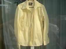 """PRE-OWNED PURE COTTON LIGHT YELLOW COLOR SHIRT FOR MEN (L) CHEST 48"""")USA SELLER"""