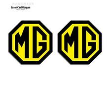 MG TF Grill And Boot Insert Badges MG Logo 02-06 Year LE500 70mm Black Yellow
