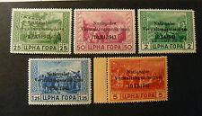 "GERMANIA, GERMANY ITALIA REICH 1943 ""Occupazione. Montenegro"" 5V.Cpl SET MNH**"