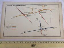 RAINFORD KIRKBY CUDDINGTON ACTON BRIDGE HARTFORD NORTHWICH RAILWAY MAP 1908