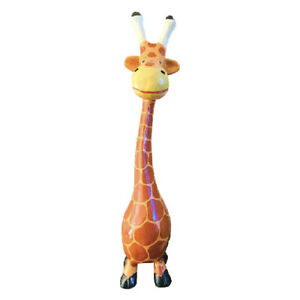 My Family House Giraffe Statues - Multicoloured Wood - Hand Carved