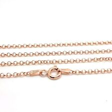 """36"""" Long Belcher chain, Rose Gold Overlay On solid Sterling Silver 925. UK"""