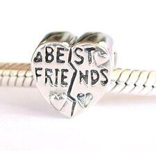 NEW 925 Sterling Silver European Bracelet Charm Bead Best Friends