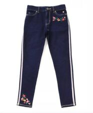Matilda Jane Valiant Jegging Dark Blue Denim Look Embroidery Size 8 NWT