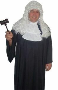 Deluxe Judge Crown Court Robe Fancy Dress Costume Robes & Cravat and Gavel Set