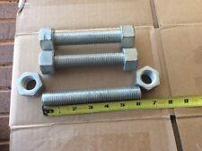 """(Lot of 3) 3/4"""" x 6"""" Flange B7 Studs w/ 2H Nuts Threaded Rod Zinc Bolts"""