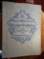 Anton Wildgans: Wiener Gedichte mit Zeichnungen von Ferdinand Schmutzer
