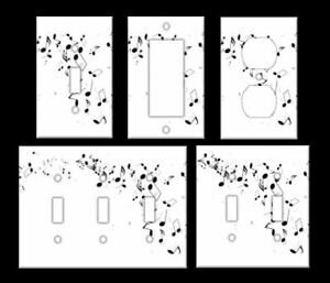 MUSIC NOTES IMAGE Light Switch Covers Home Decor Outlet MULTIPLE OPTIONS